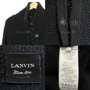 Lanvin 2010 River Collection black sweater coat
